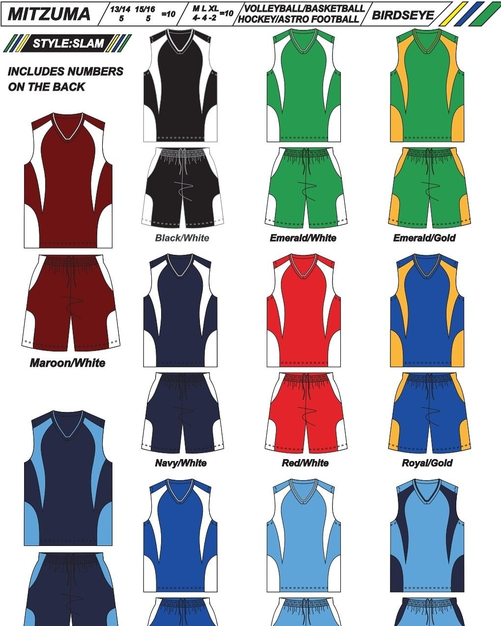 Sports Kit Set Of 10 Pre Numbered 1 10 Already Ideal For Basketball Volleyball Hockey Astro Basketball Kit Soccer Kits Volleyball Kit