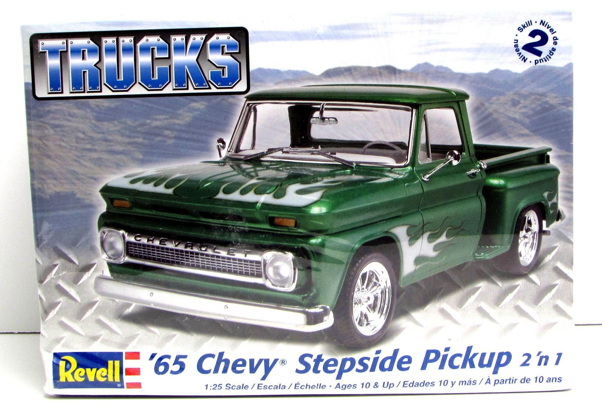 1965 chevy stepside pickup revell 85 7210 1 25 new classic truck model