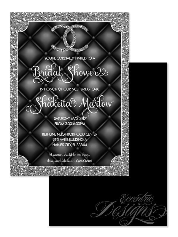 Coco Chanel Digital Birthday Invitation Invitation S And Party