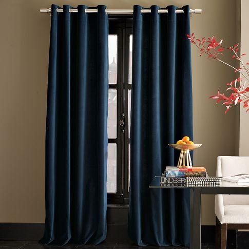 Velvet Grommet Curtain Regal Blue Blue Velvet Curtains Blue