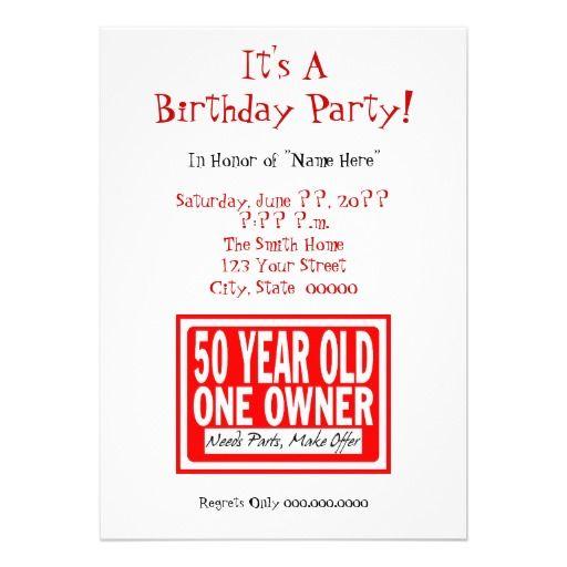 funny 50th birthday party invitations