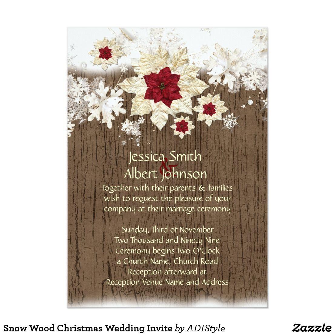 Snow Wood Christmas Wedding Invite Luxury style. It\'s romantic and ...