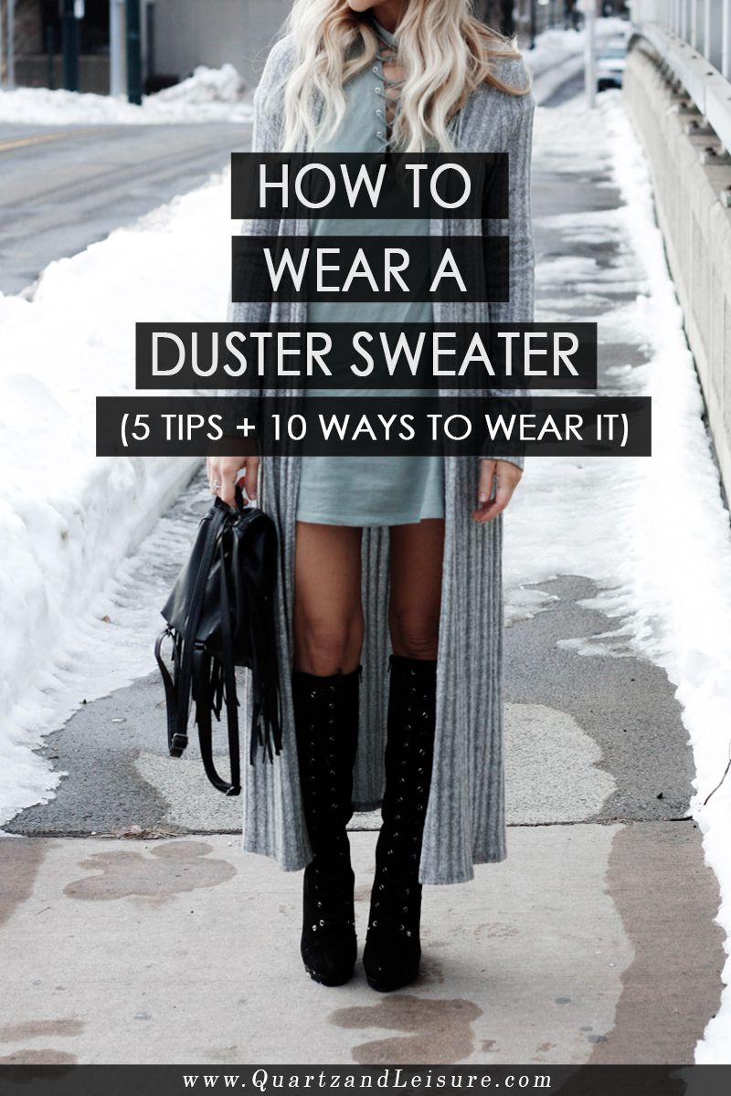 Looking for a unique twist on a traditional cardigan sweater? Read my tips on how to wear a duster sweater, the cardigan's longer