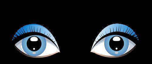Blue Female Eyes With Eyebrows Png Clip Art Cartoon Girl Eyes Female Eyes Eye Art