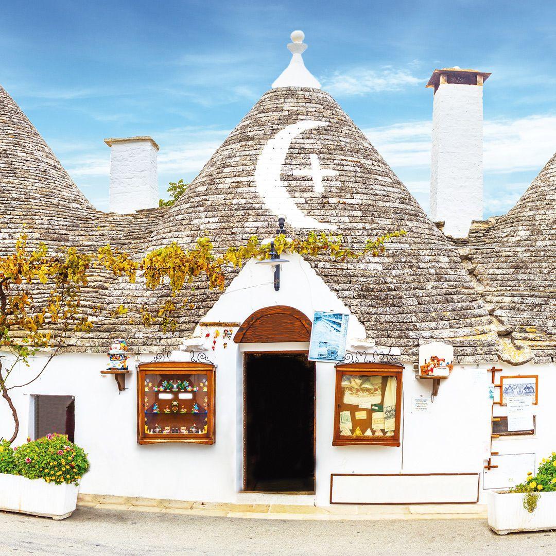 Las casas típicas en Alberobello, en la región de Apulia