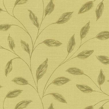 Echo Design 566-43991 Elspeth Light Green Metallic Leaf wallpaper