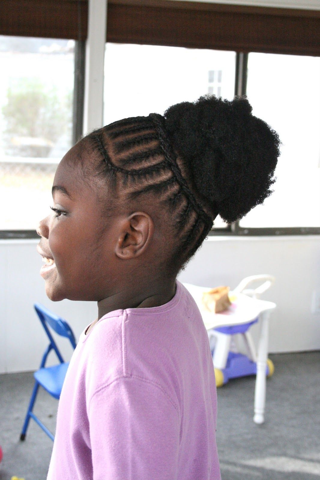 Kids braided puff