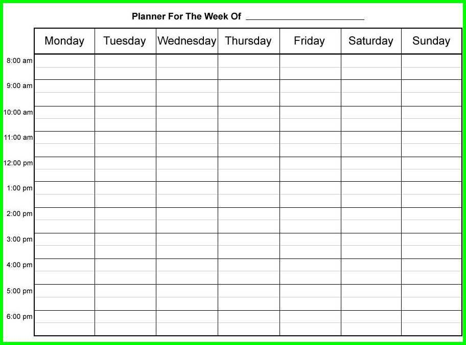 9 Hourly Weekly Schedule Printable Supplyletter Cover