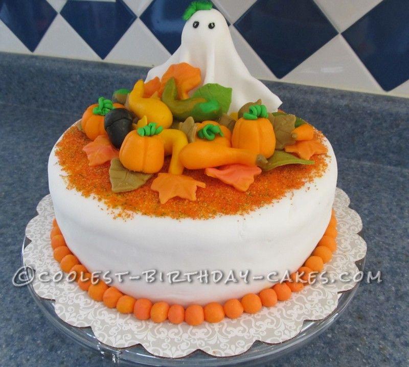 Coolest Halloween And Fall Birthday Cake Fall Birthday Birthday