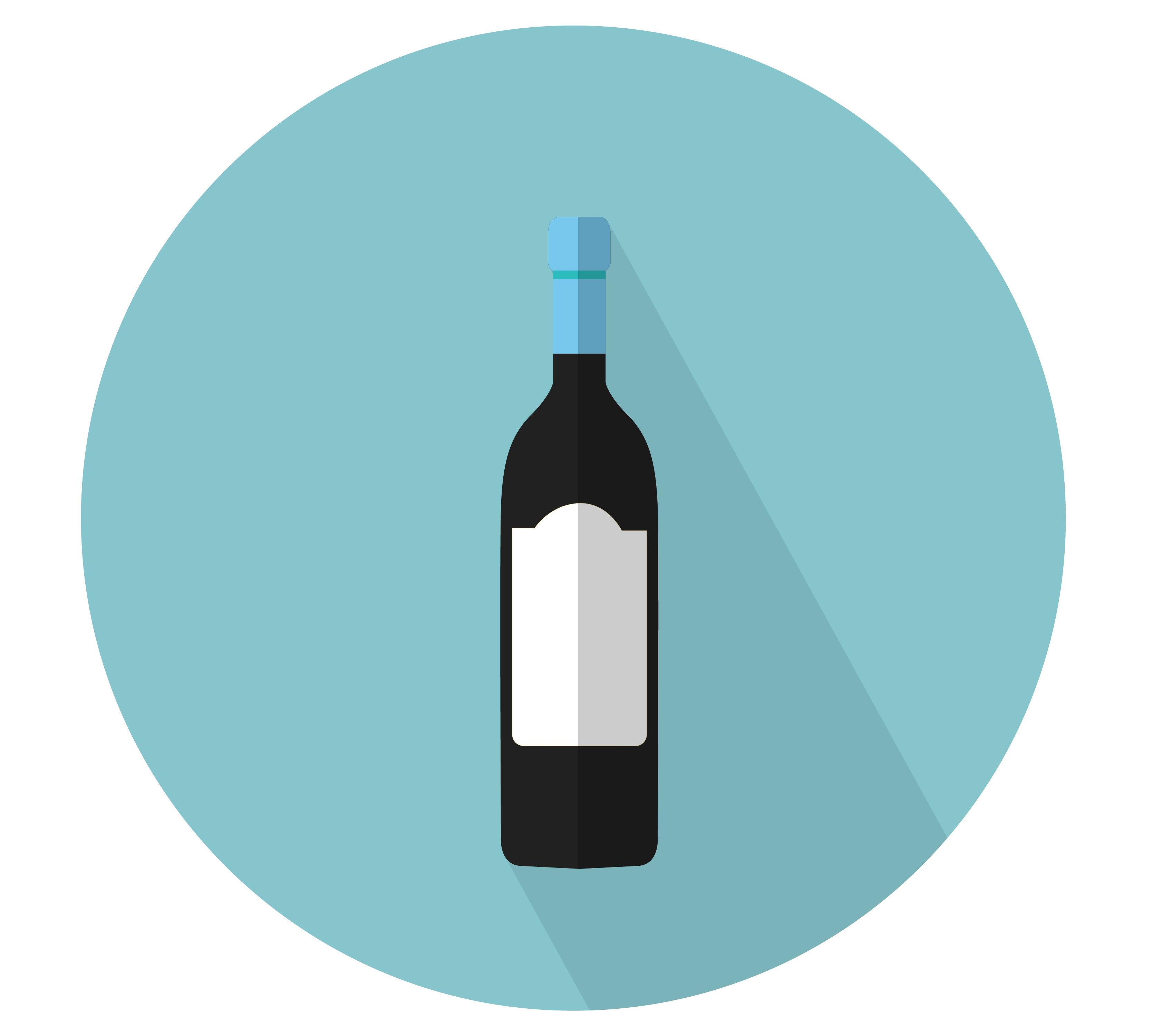 Vector Illustration Of A Red Wine Bottle And Glass Isolated On White Wine Bottle Illustration Red Wine Bottle Red Wine