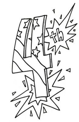 4th Of July Fireworks Kids Coloring Pages And Pictures To Print