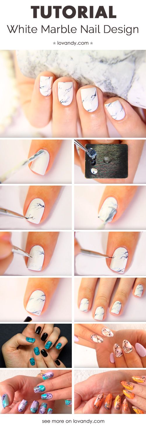 We Will Learn How To Make Marble Nails Nagelkunst Pinterest