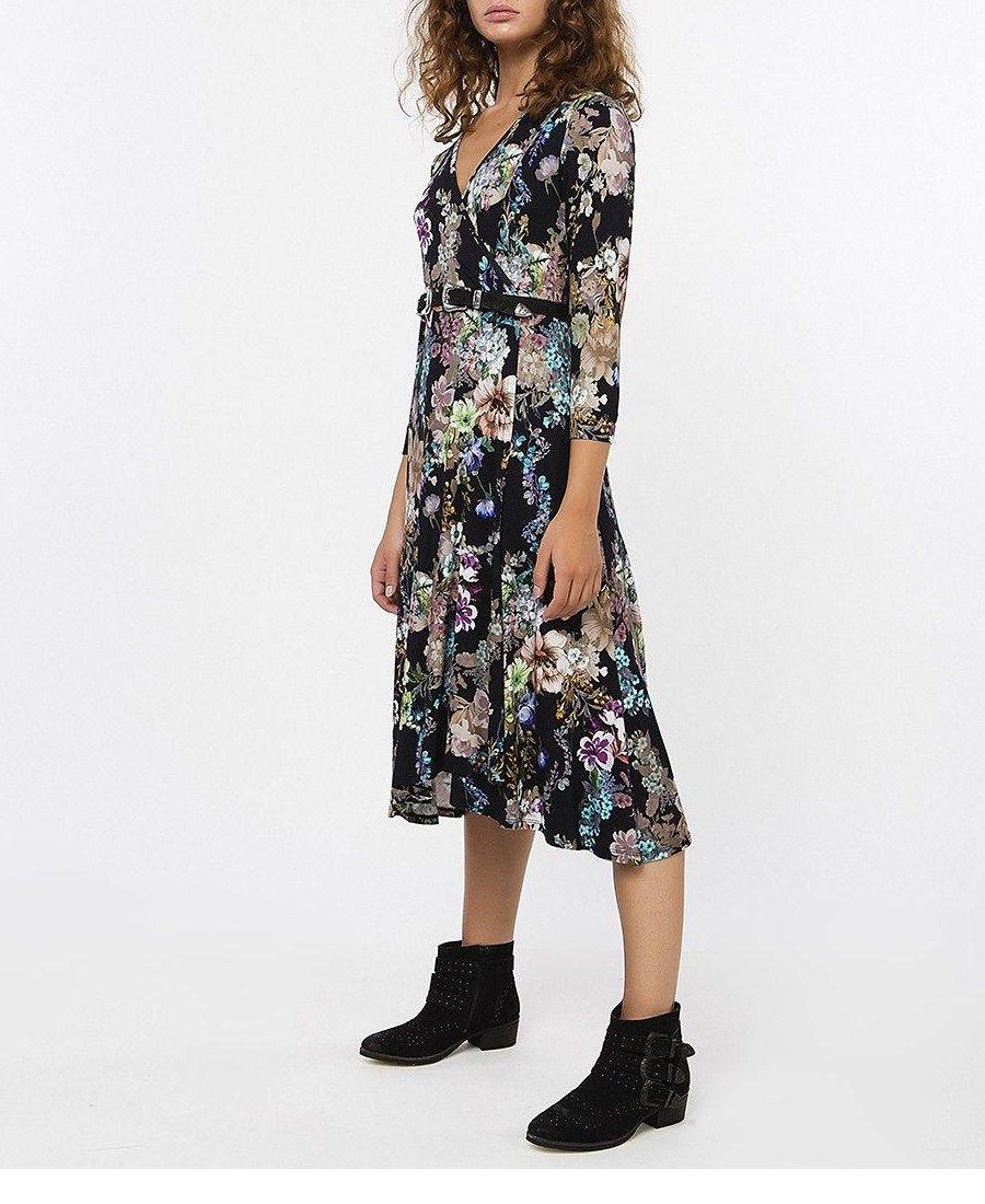 178ff52b58f3 BSB ♢ Midi Εμπριμέ Φόρεμα Μιdi Εμπριμε Φορεμα Με Κρουαζε Μπροσtino Σχεδιο