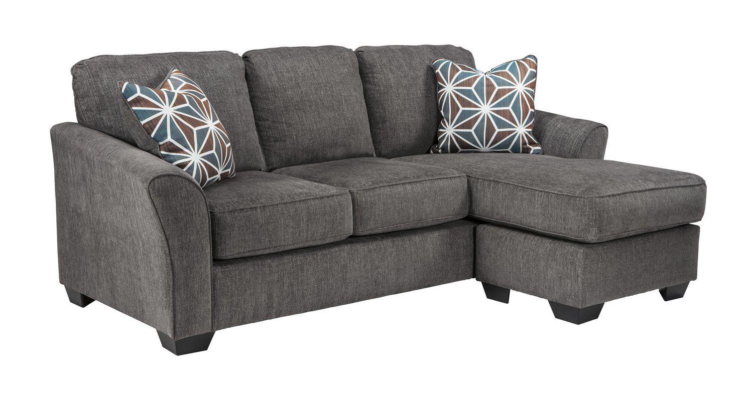 Fallin Sectional Slate Sofa Ashley Furniture Living Room Grey Sectional Sofa