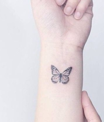 Jengrajeda Small Tattoos Butterfly Wrist Tattoo Mini Tattoos
