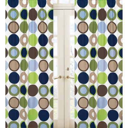 Sweet Jojo Designs Designer Dot Window Panels Dot Window