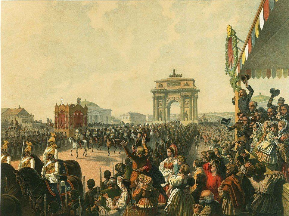 Alexander II entry into Moskow by Zichy