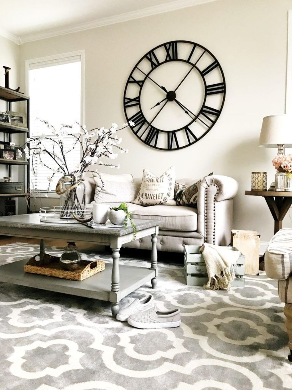 40 Unique Wall Decor Ideas With Clocks Wall Clocks Living Room Living Room Grey Living Room Clocks