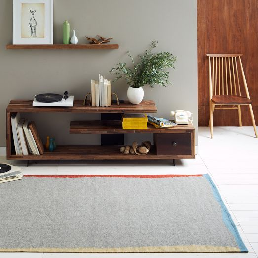 Handwoven By Craftmark Certified Artisans In India, The Horizon Wool  Dhurrie Features A Heathered