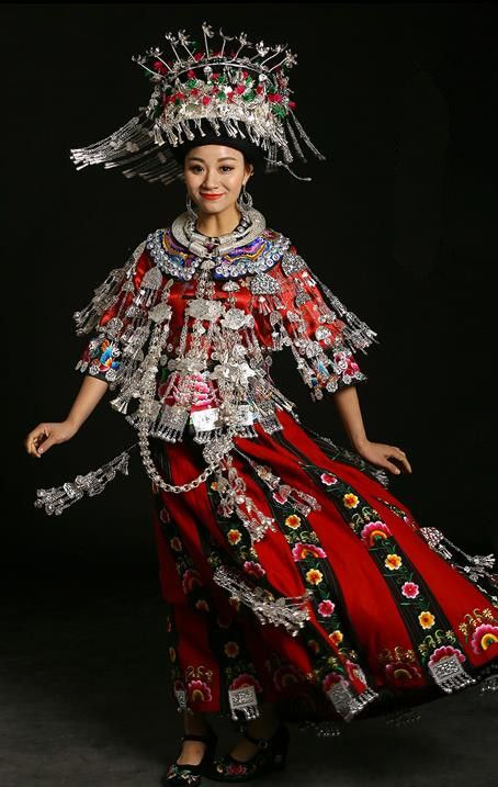 defbaa62508a5 Traditional Chinese Miao Nationality Wedding Costume Accessories Crown
