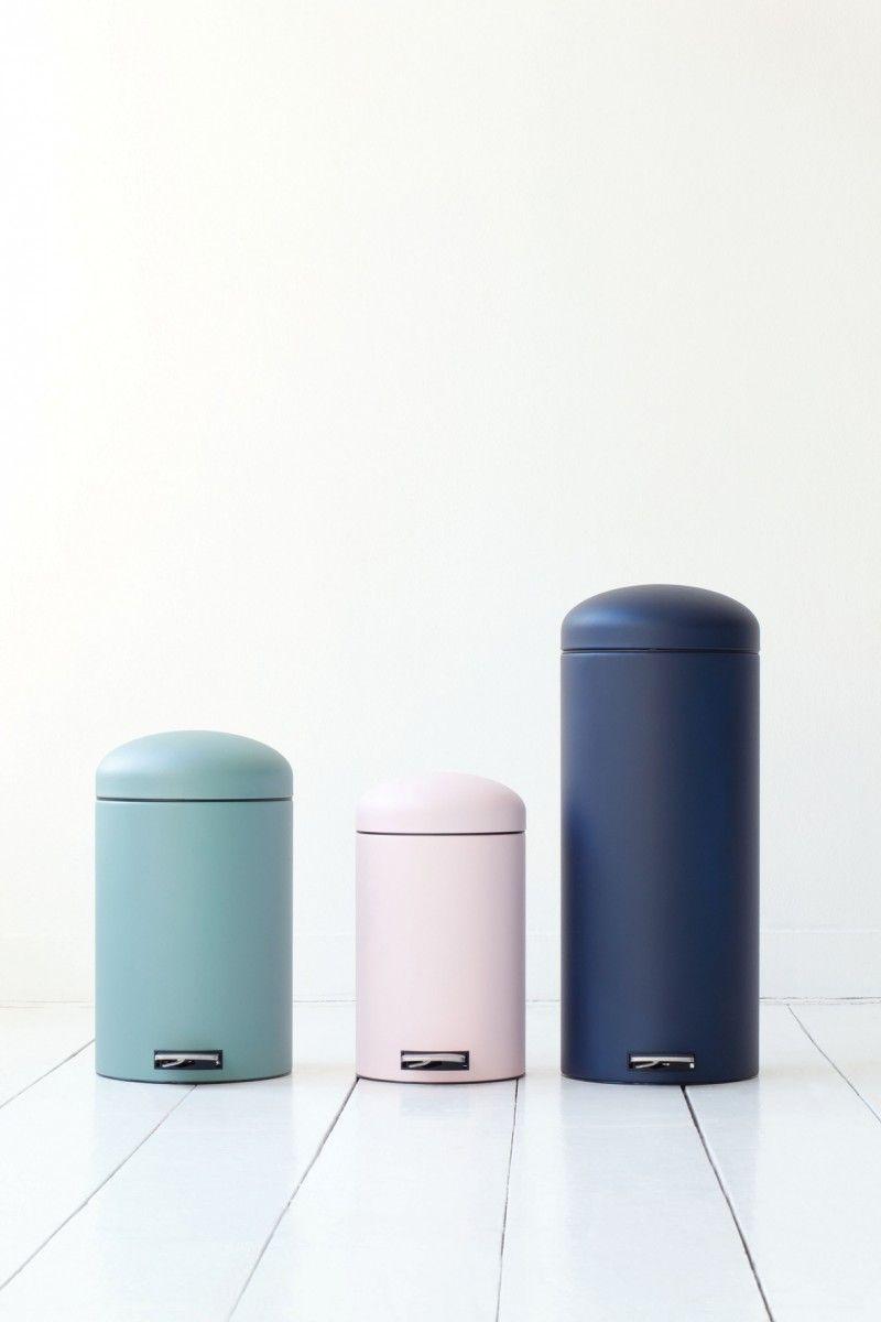 Brabantia Mineral Retro Pedal Bin Bedroom Trash Can Modern Kitchen Trash Cans Kitchen Trash Cans