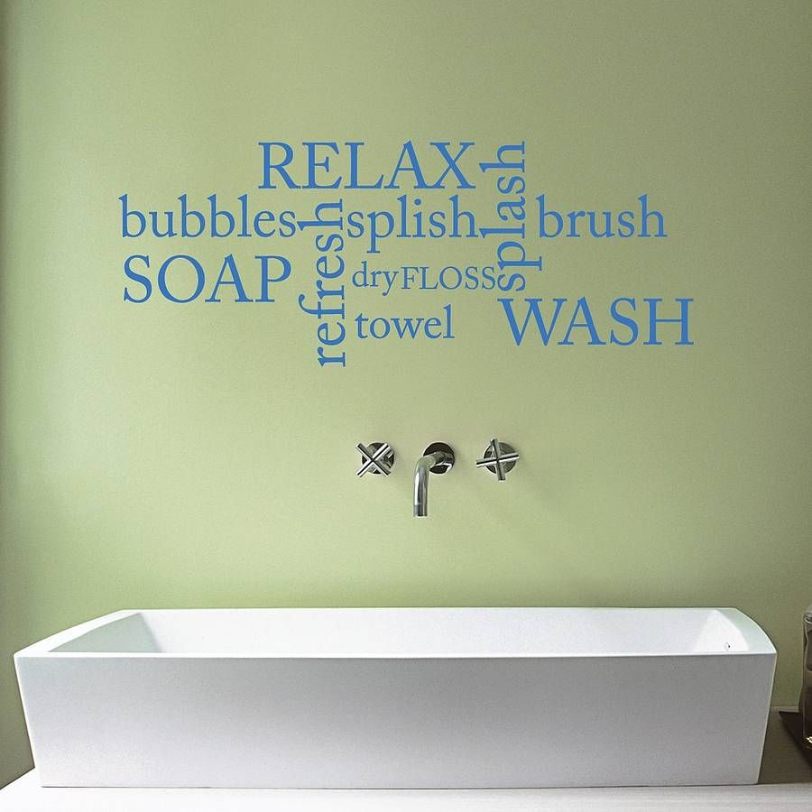 Bathroom Word Cloud Wall Sticker | Word clouds, Wall sticker and Walls