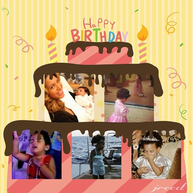 Fine Happy 3Rd Birthday Blue Ivy Blue Ivy Funny Birthday Cards Online Kookostrdamsfinfo