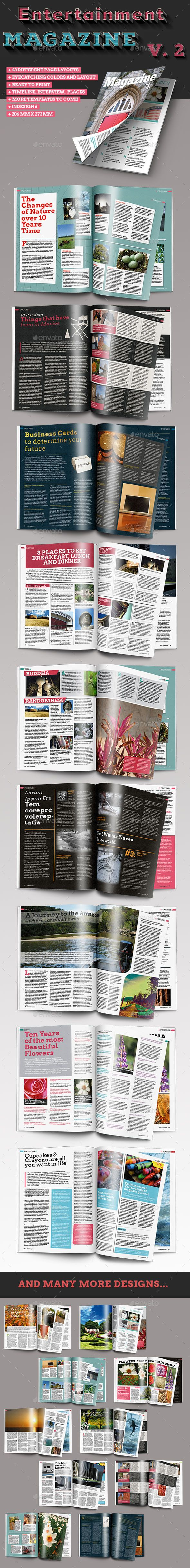 40 Page InDesign Magazine Template Vol. 2 - Magazines Print ...
