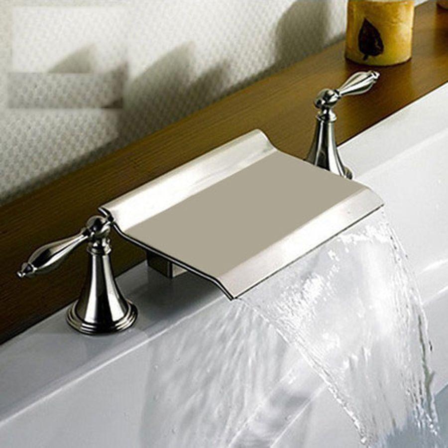 Bathroom Renovation Usa shop kokols usa brushed nickel 2-handle fixed deck mount bathtub