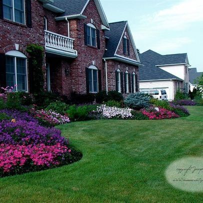 Front Flower Bed Design Ideas Love The Curved Ends With A