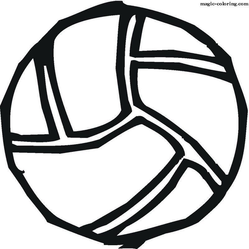 Magic Coloring Volleyball Coloring Pages Coloring Pages Sports Coloring Pages Color