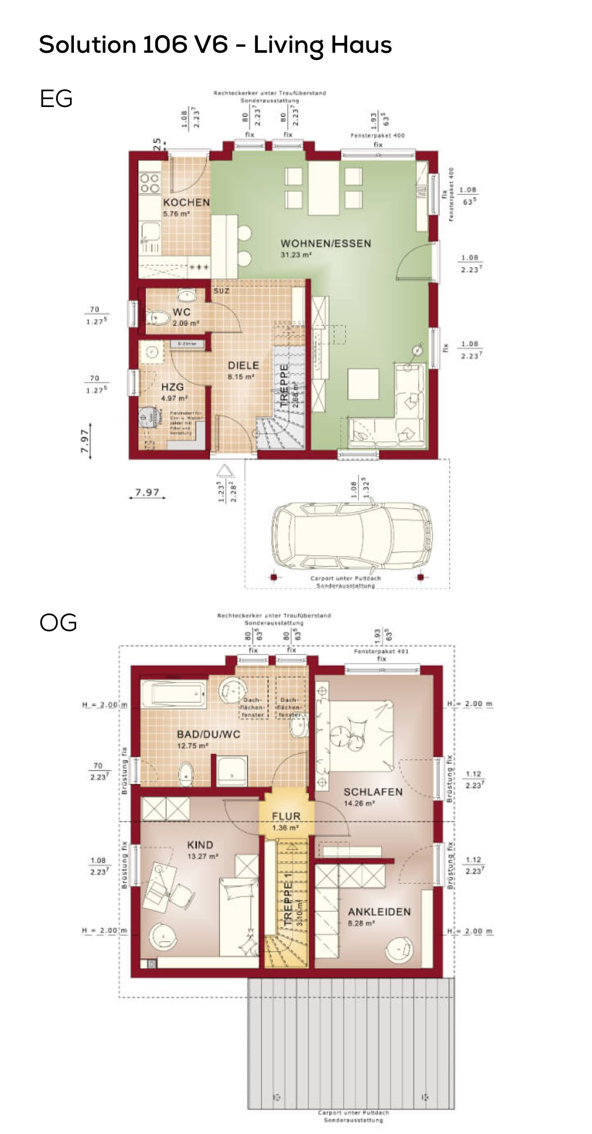 Bezaubernd Grundriss Einfamilienhaus 150 Qm Referenz Von Modern Mit Carport Und Satteldach Architektur -