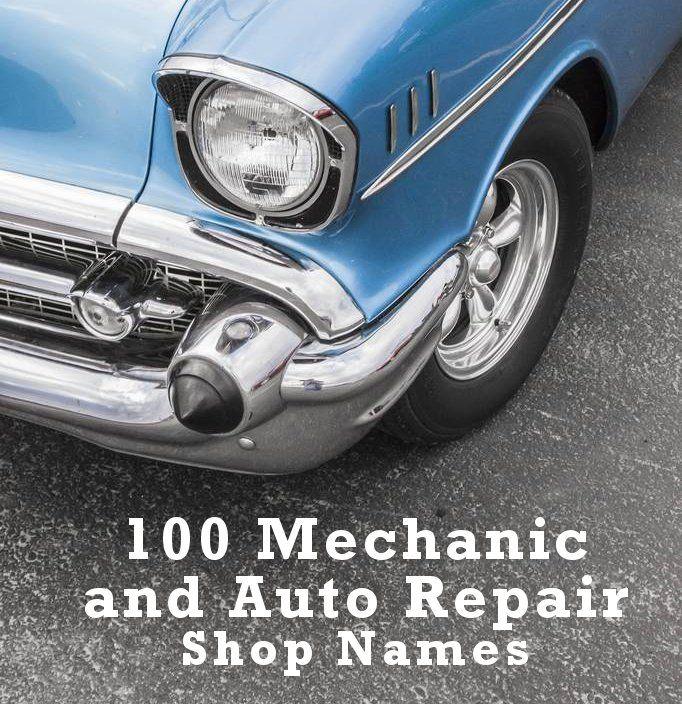 automotive repair shop names ideas