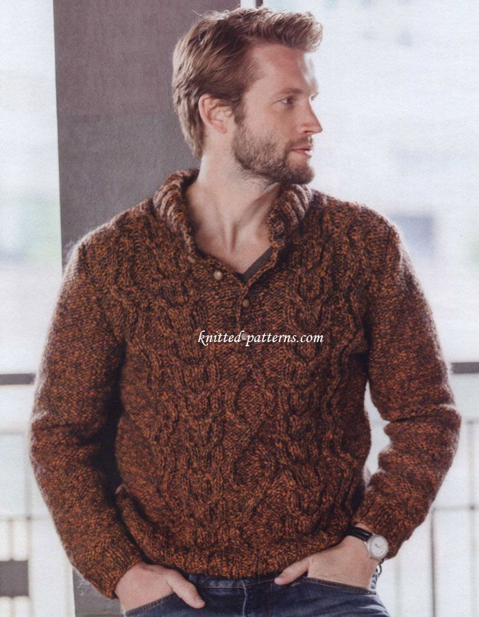 Men\'s pullovers and sweaters knitting patterns   Suéteres para Alex ...