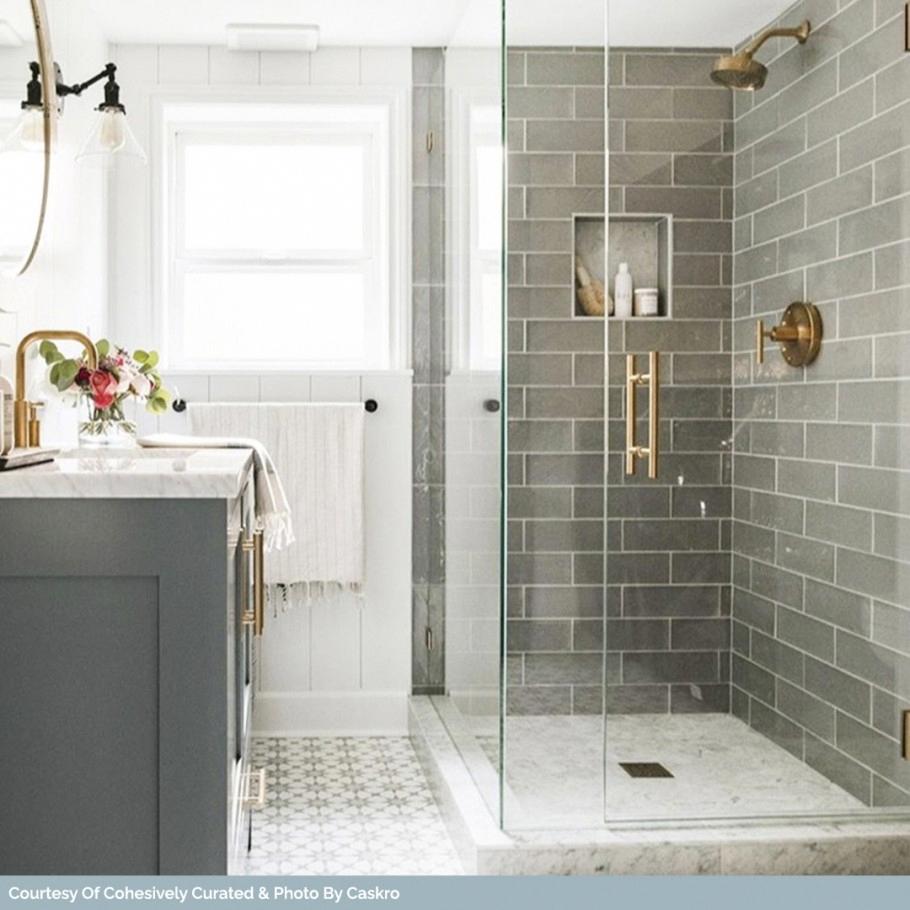 Santa Monica Gray 4x12 Tile In 2020 Small Bathroom