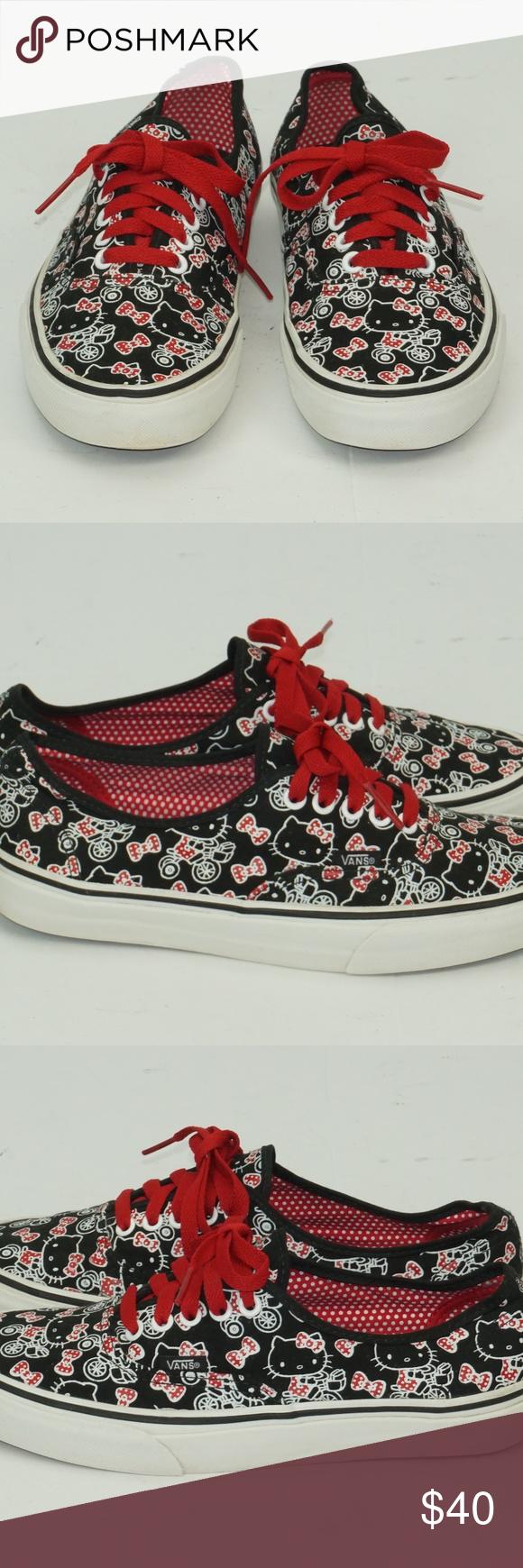 5f68ac613 Vans Hello Kitty Shoes Vans Black Hello Kitty low top Shoes Size Men 7  Women 8.5 Vans Shoes Athletic Shoes