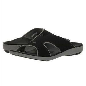 Spenco Kholo Plus Mens Black Slides