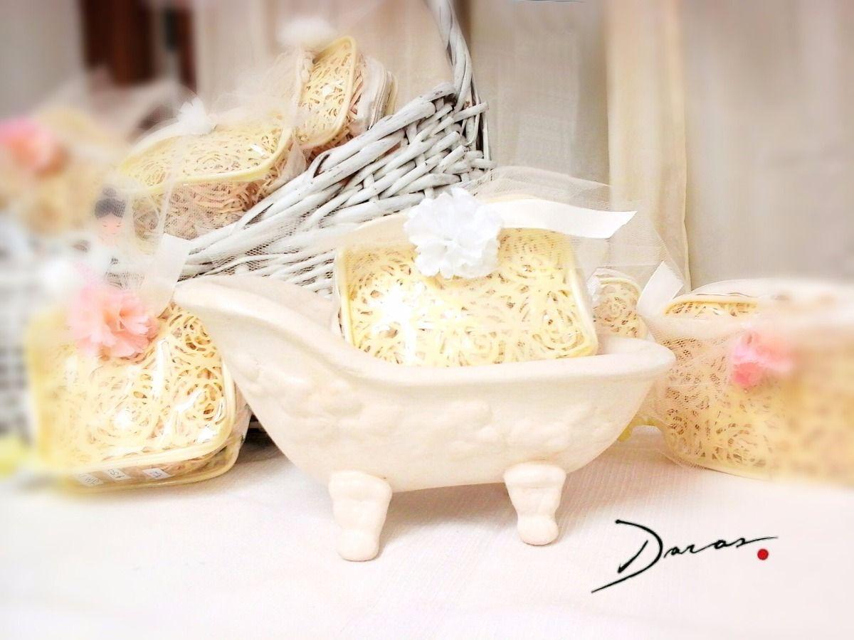 Ba era jabonera ceramica shabby chic deco regalo o for Materiales para ceramica artesanal