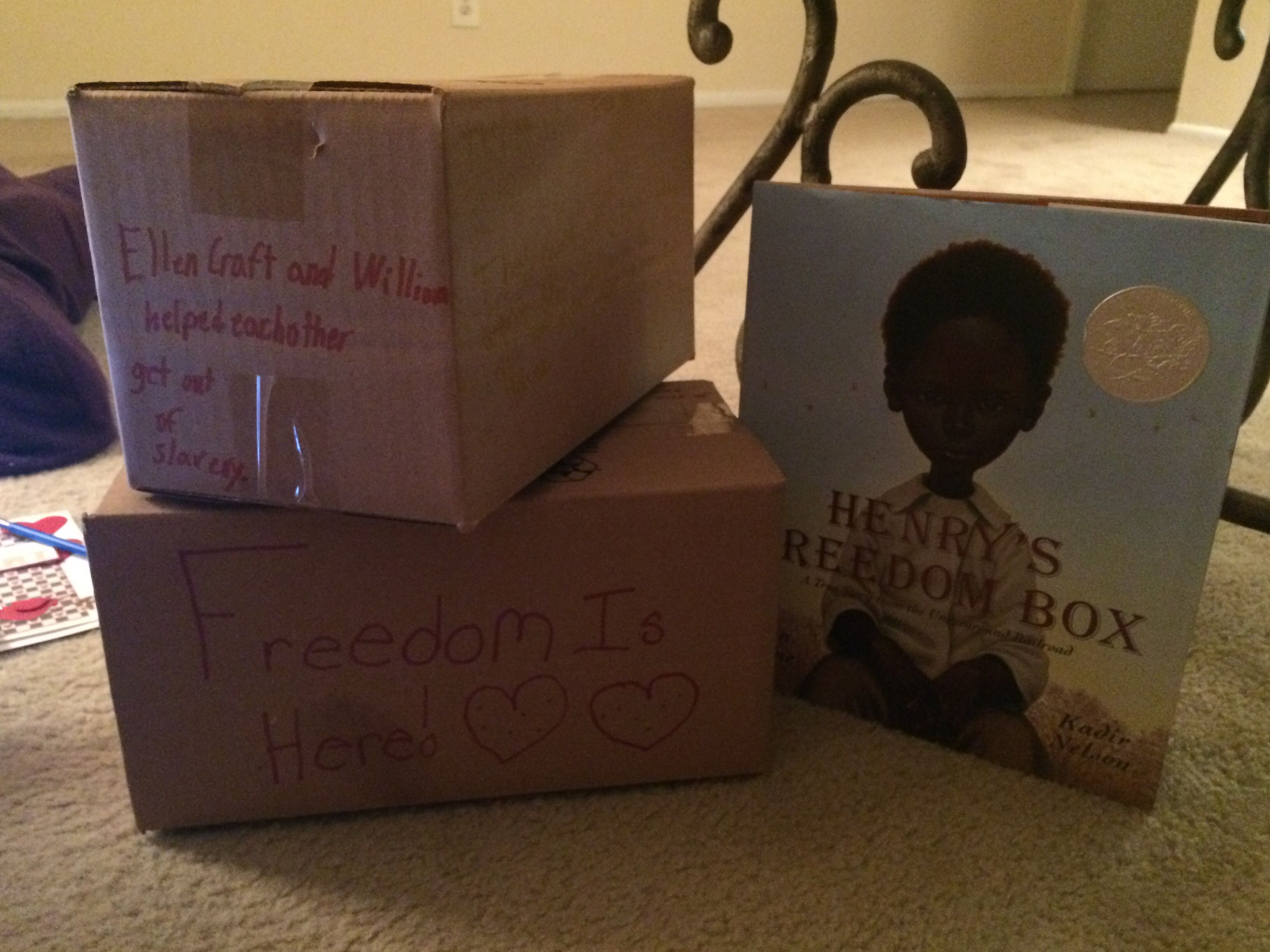 Henry S Freedom Box Fourth Grade Project Teaches Students