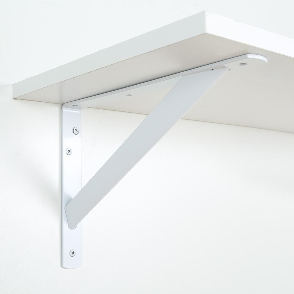 Everbilt 8 In X 11 25 In X 1 05 In 1000 Lbs Heavy Duty White Shelf Bracket Eh Wsthdus 354 The Home Depot White Shelves Shelves Shelf Brackets