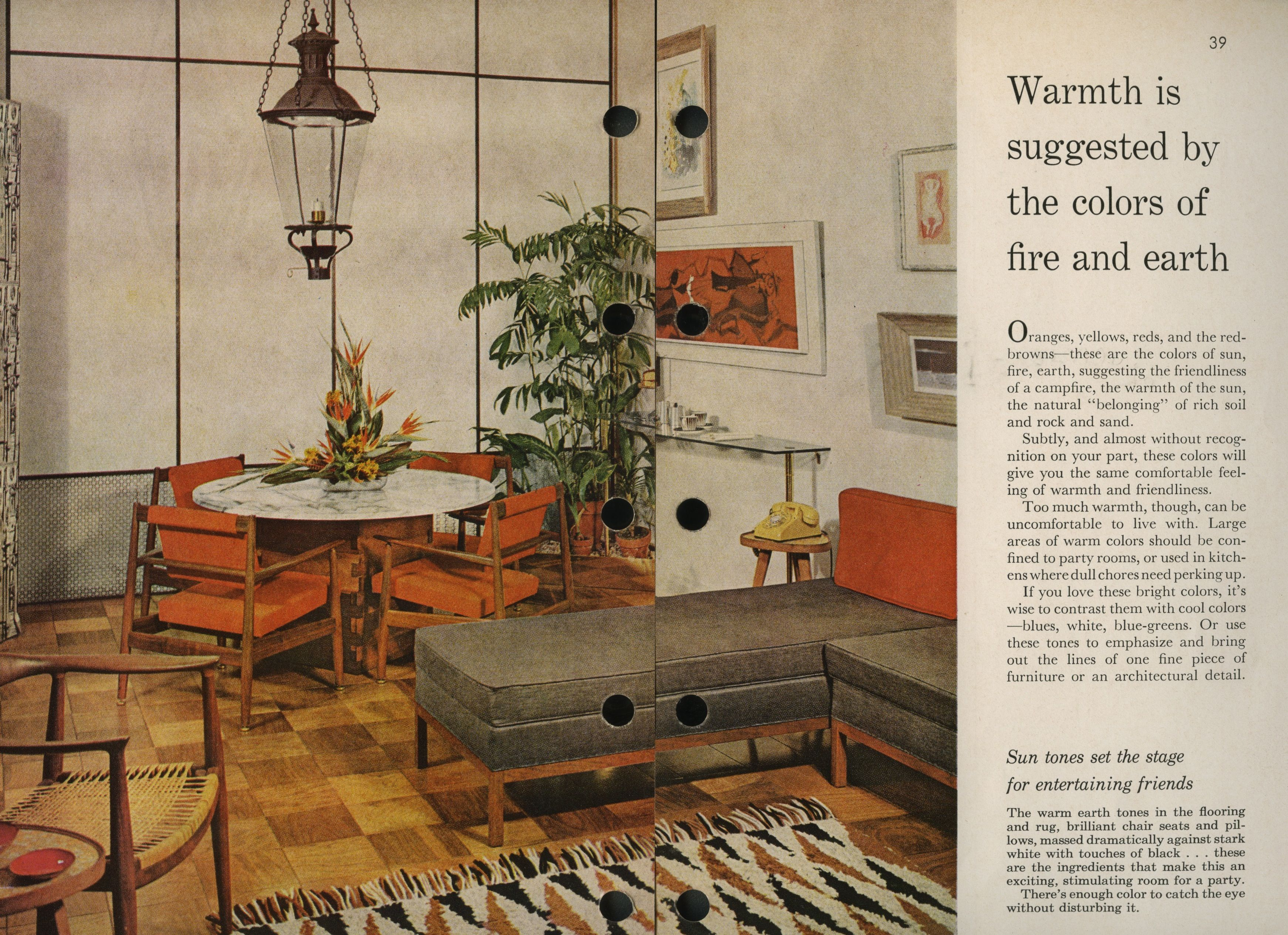 exciting home and garden party. House c  Better Homes and Gardens 1956 And Garden Magazine