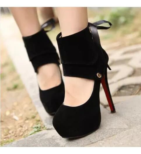Imported suede high heels