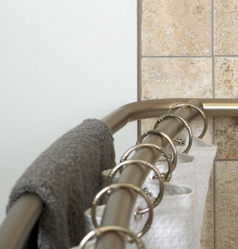 Never Rust Curved Shower Curtain Rod Shower Curtain Rods
