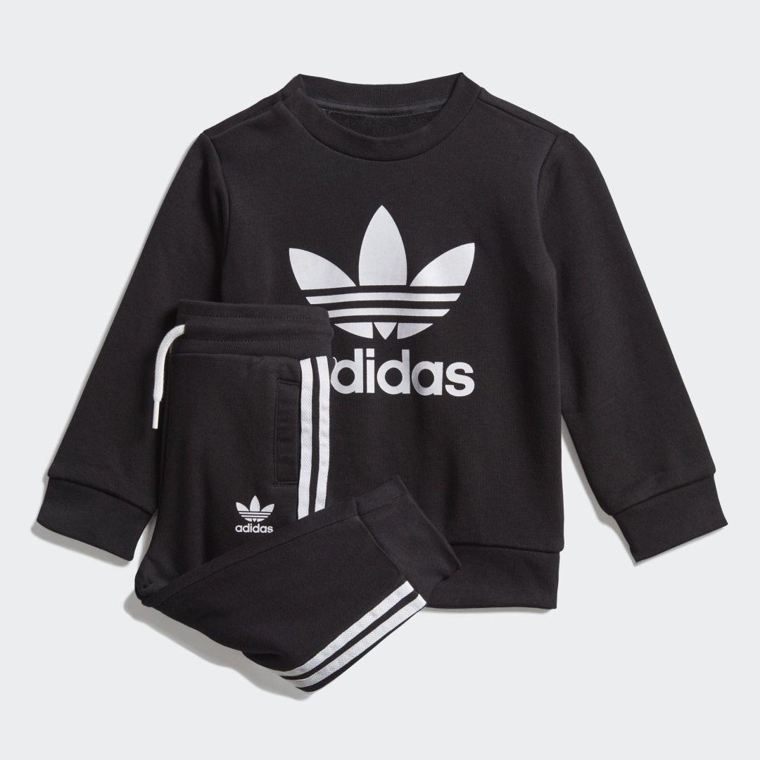 Adidas Crew Sweatshirt Set Black Adidas Us Sweatshirt Set Adidas Sweatshirt Crew Sweatshirts [ 1080 x 1080 Pixel ]