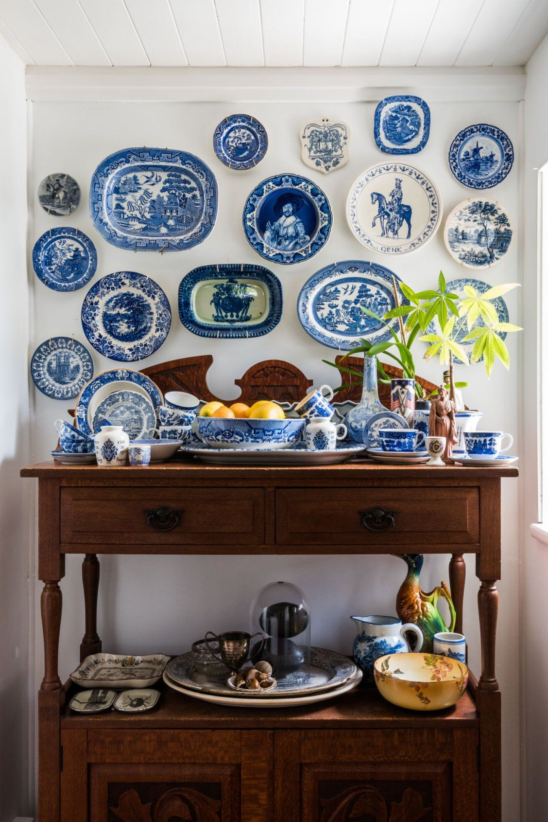 Calling All Collectibles Inspiring Ways To Display Your Treasures Plates On Wall Blue White Decor Plate