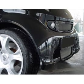 Smart Car Front Spoiler By S Mann Matte Black 450 Model