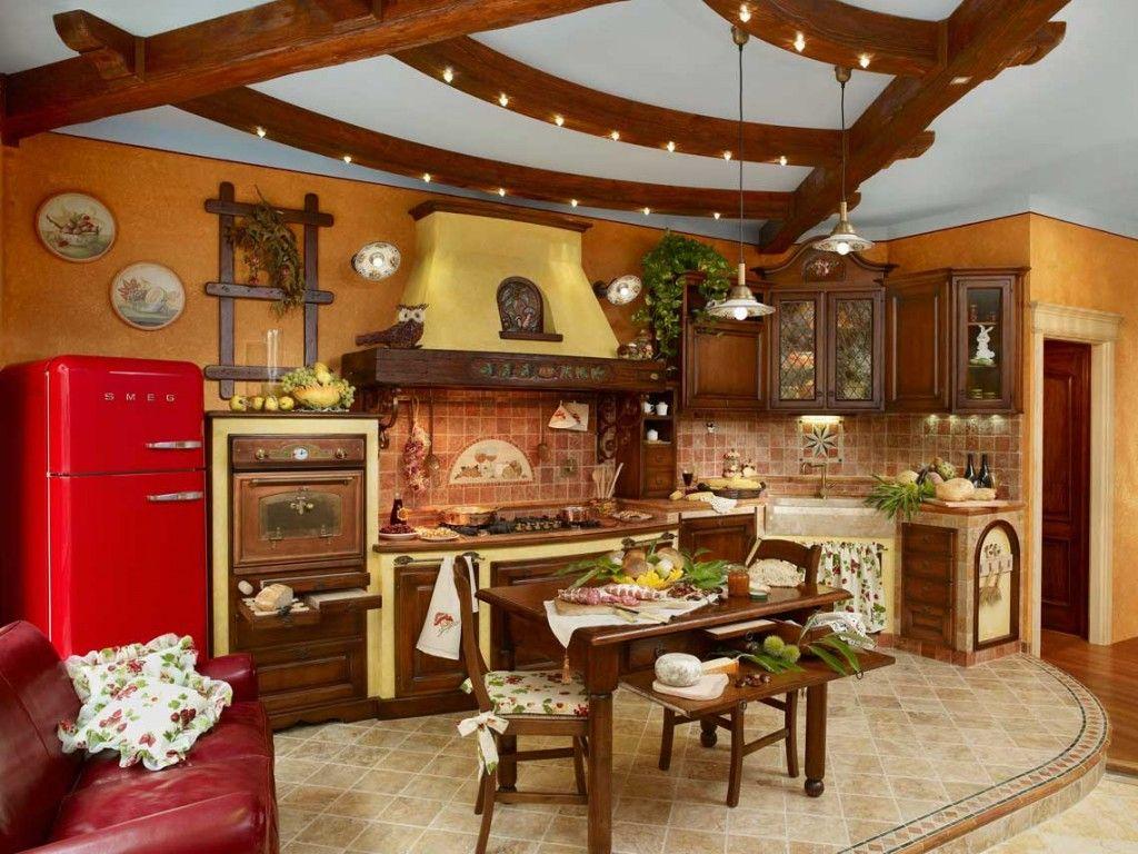Caminetti rustici per taverne - Cucina rustica muratura ...