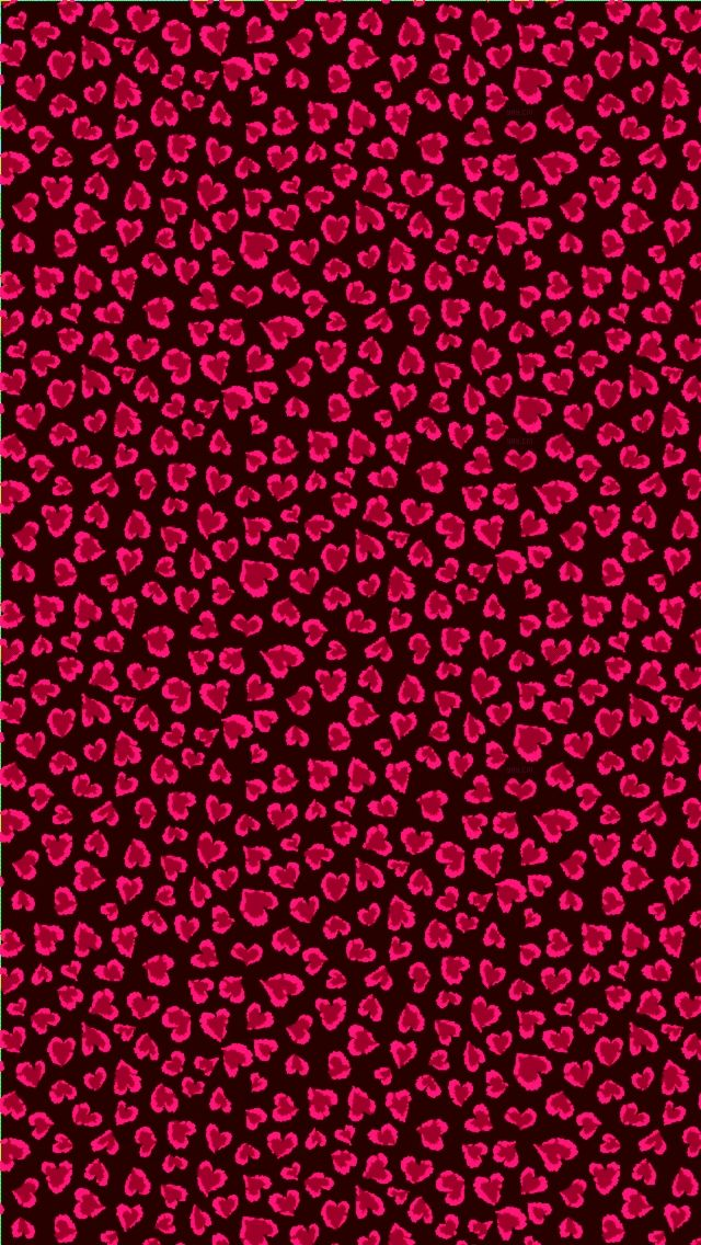 Black And Red Heart Leopard Print Heart Wallpaper Phone Wallpaper Wallpaper Backgrounds