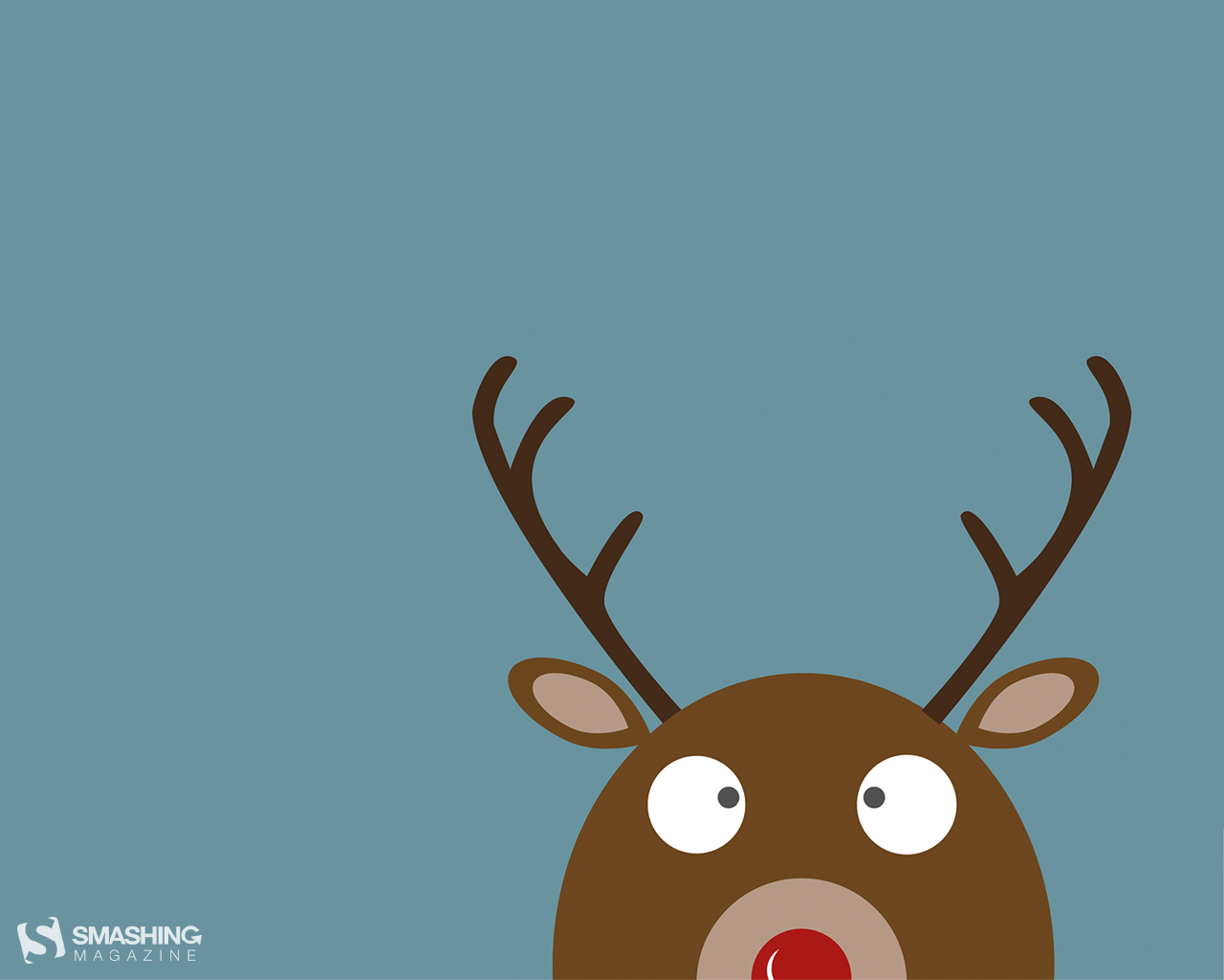 Reindeer Christmas Time Wallpaper 1280x1024