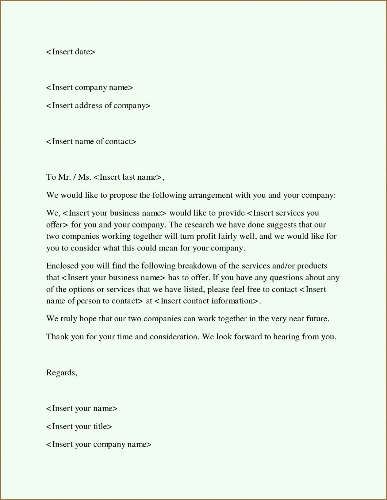 Free Proposal form Template Luxury Free Business Proposal